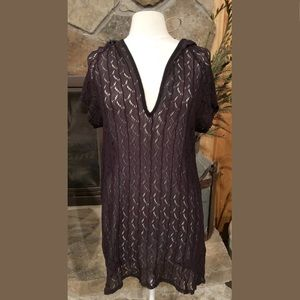 0bfe7b3fdf0716 Jordan Taylor Swimsuit Cover Up M Brown Hooded